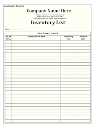 Blank Inventory List Inventory Sheets Template Tool Inventory Template Tool And