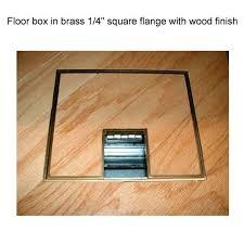 fsr fl 500p floor box in br quarter inch with wood finish icon