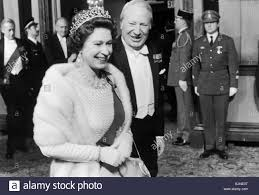 Queen Elizabeth II seen here with Prime Minister Edward Heath atting Stock  Photo - Alamy