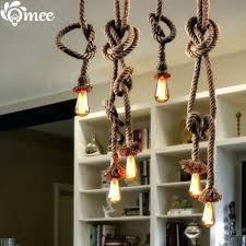 rope pendant light 2 bulb creative personality rope pendant lights vintage restaurant lamp dining room single