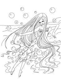 Coloriage Fille Sirene Imprimer