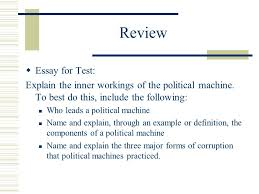 politics in the gilded age ppt  review essay for test explain the inner workings of the political machine to best