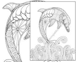 Small Picture Dolphin coloring page adult coloring sheet nautical coloring