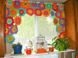 Kitchen Curtain Patterns Magnificent 48 Simple Looking Patterns For Crochet Curtains Patterns Hub