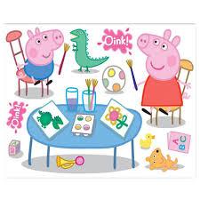 Peppa Pig Bedroom Decor Fun4walls Peppa Pig Maxi Wall Sticker Stikaround Sa30191 Wall