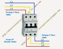 how to wire 3 pole circuit breaker wiring of circuit breaker in supply and out supply