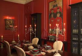 Dining Room Library Ideas  Gallery Dining - Dining room red paint ideas