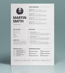 40 Best Minimal Resume Templates Design Graphic Design Junction Mesmerizing Minimalist Resume