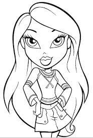 Small Picture Bratz Coloring Pages Printable Free Bratz Coloring Pages