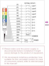 connection diagram qlight ac dc built in sound steady type connection diagram