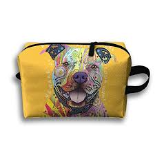 colorful pitbull cosmetic bags makeup organizer bag pouch purse handbag clutch bag