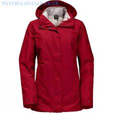 waterproof jackets womens jack wolfskin vernon 3 in 1 jacket indian red
