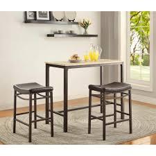 linon home decor betty 3 piece rustic brown bar table set 030411mtl01u the home depot