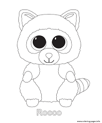 Small Picture Rocco Beanie Boo Coloring Pages Printable