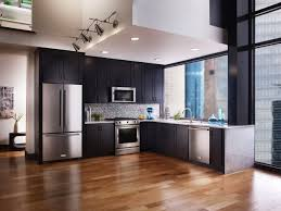 french door refrigerator in kitchen. KitchenAid High End Kitchen Appliances With Stainless Steel French Door Refrigerator And Induction Range Also In F
