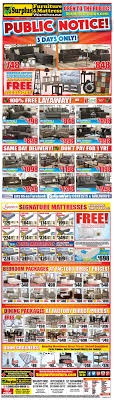 Furniture Surplus Kitchener Surplus Furniture Mattress Warehouse Kitchener Flyer April 4