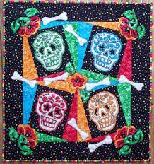 51 best Dia de Los Muertos Quilts images on Pinterest | Quilting ... & Dia de los Muertos (the Day of the Dead) is celebrated on October 31st · Quilting  PatternsQuilt ... Adamdwight.com