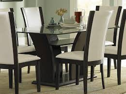 Homelegance Daisy Dining Table With Glass Top 710 72 At Homelement Com Glass Dining Room Table Set