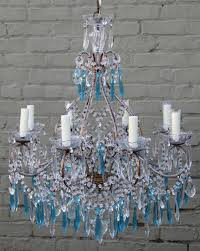 italian crystal beaded chandelier melissa levinson antiques intended for incredible household crystal beaded chandelier plan