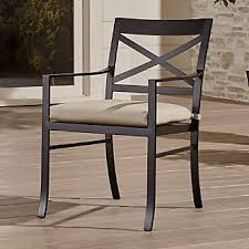 outdoor metal chair. Regent Dining Chair With Sunbrella ® Cushion Outdoor Metal