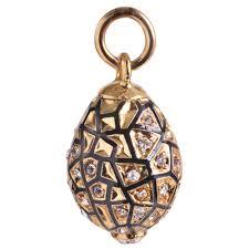 pine cone egg pendant