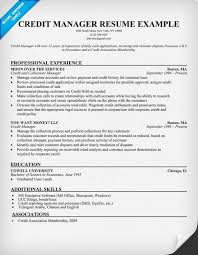 Credit Manager Resume Resume Examples Sample Resume Resume