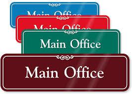 main office. Main Office