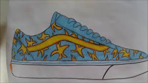 vans shoes drawing. custom sneaker drawing vans: old skool x odd future \ vans shoes