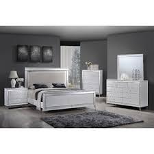Simple Panel 4 Piece Bedroom Set white bedroom furniture – Vintage Decor