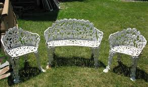 white iron garden furniture. plain garden white cast iron patio furniture u201c inside garden furniture