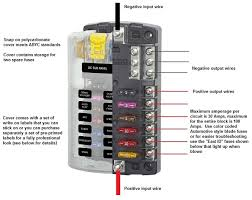 blue sea fuse box wiring diagram site blue sea systems fuse block cover and ground bus for 12 dc 12v marine fuse