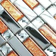 strip silver stainless steel mixed orange glass art mosaic tile kitchen for tiles uk glass tile kitchen designs orange mosaic