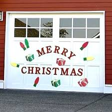 use sticker decorations on the garage door xmas decoration door decorations decor garage