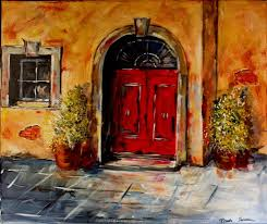 the red door painting with a twist