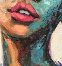 close up of a new painting i m working on embracing my pull towards a