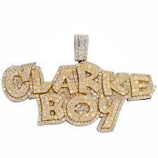 cj16383 custom clarke boy pendant