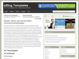 Template For Advertising Ads Theme Blogger Template Eblog Templates