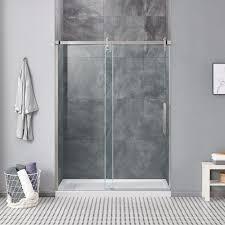 sheffield 60 satin nickel shower door
