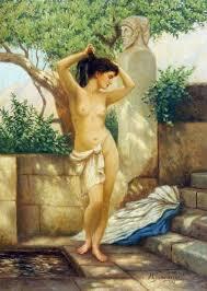 greek woman at the well hendryk siemiradzki oil painting
