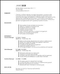 Manager Resume Template Simple Free Creative General Manager Resume Template ResumeNow