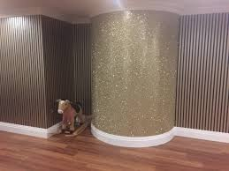 Silver Glitter Wallpaper For Bedroom Similiar Wall Designs With Sparkle Keywords