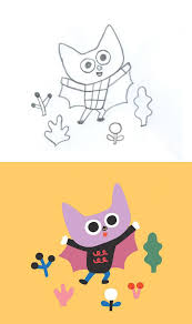 Undotted lines lead in to bones; How To Draw Characters For Children S Books 23 Tips Digital Arts