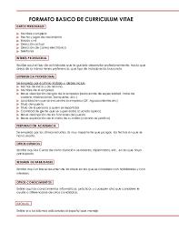 Formato Basico Pdf Formato Basico De Curriculum Vitae Maria Patricia