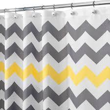 grey chevron shower curtains. Amazon.com: InterDesign Chevron Shower Curtain, 72 X 72-Inch, Gray/Yellow:  Home \u0026 Kitchen Grey Chevron Shower Curtains M
