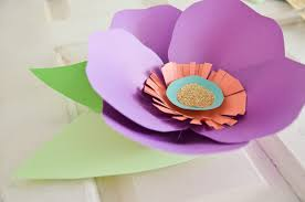How To Make Paper Cones For Flower Petals Diy Hand Cut Paper Flowers Project Nursery