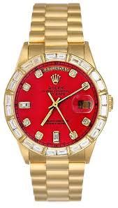 rolex day date 36mm platinum diamond bezel 118346 rhodium diamond rolex mens president yellow gold watch red diamond dial bezel president band