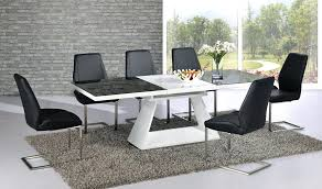 white and black dining table white high gloss extending dining table with 8 chairs glass top