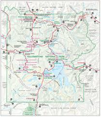 yellowstone map  yellowstone maps