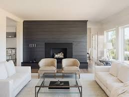 Small Picture Living room with shiplap wall painted in a charcoal gray color