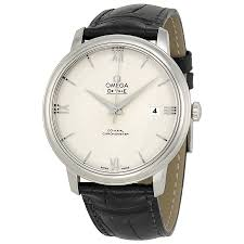 omega de ville prestige silver dial black leather men s watch omega de ville prestige silver dial black leather men s watch 424 13 40 20 02 001